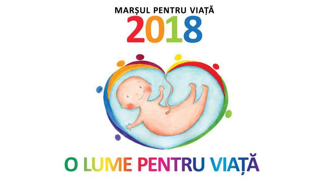 """A început """"Luna pentru viață 2018"""". În 24 martie va avea loc a opta ediție națională a Marșului pentru viață"""